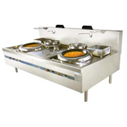 D/U GAS WOK RANGE W/ 2 REAR POT (SV, N.A)